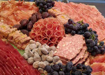 Breughelplank met vlees en kaas